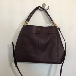 Authentic Coach Small Lexy Plum Shoulder Bag NWT